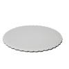 White Scalloped Circle Cake Board - 9 Inch