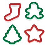 Wilton Holiday Cookie Cutters, Set of 4